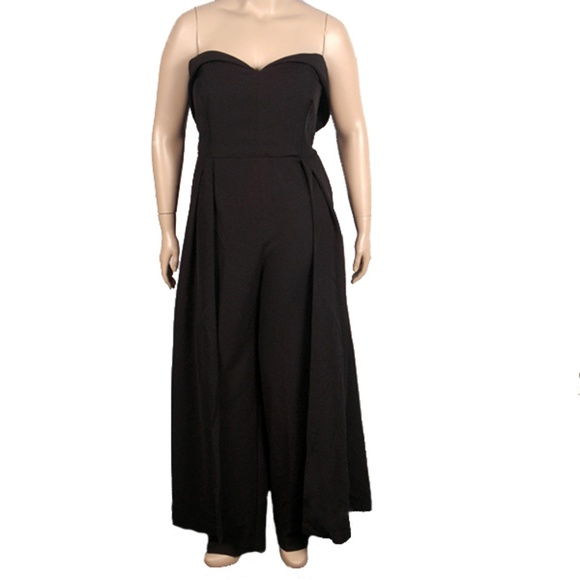 fc7cbb386a9 ELOQUII STUDIO Black Jumpsuit with Skirt Overlay